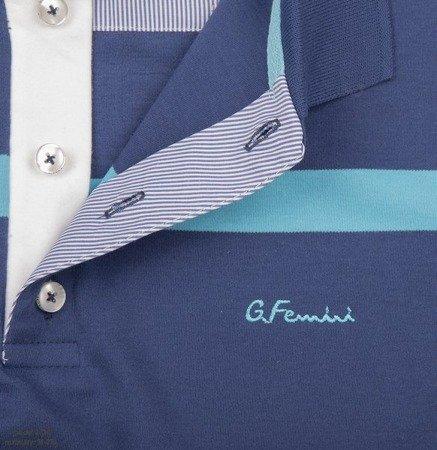 Koszulka męska polo Giovanni Ferrini 2720 - niebieska w paski