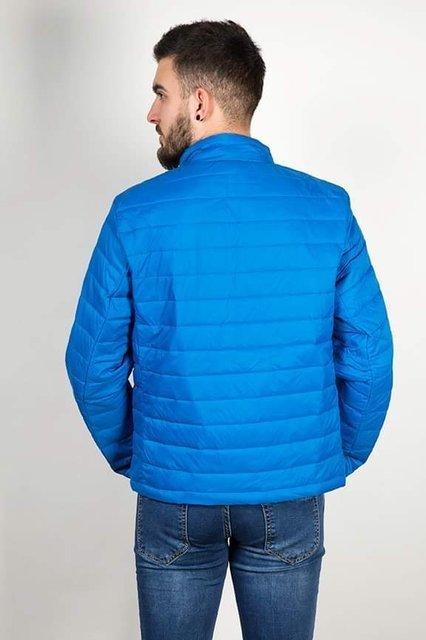 Kurtka męska, przejściowa, jasno niebieska,pikowana, model 8001.