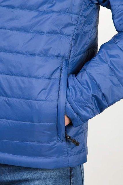 Kurtka męska, przejściowa, niebieska, pikowana, model 8001.