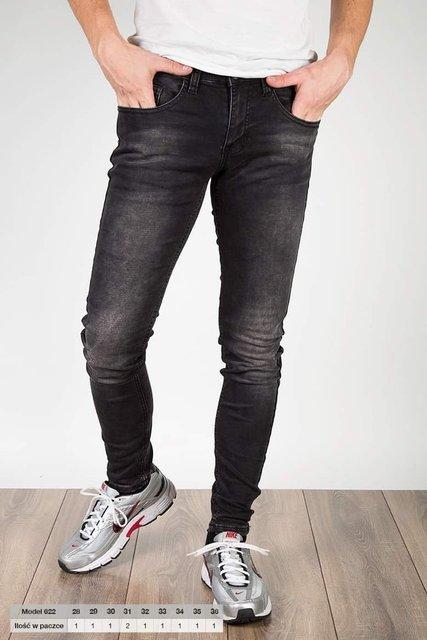 Męskie spodnie jeansowe, model 622, slim fit