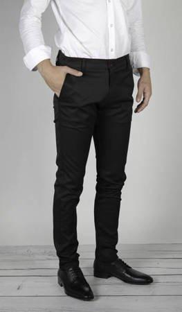 Spodnie materiałowe typu chino 7670 czarne - dla wysokich
