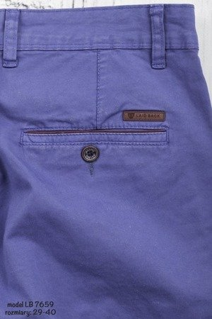 Spodnie męskie chinosy 7659 - niebieskie