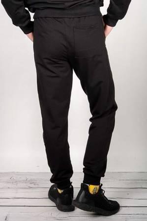 Spodnie męskie, dresowe, czarne.