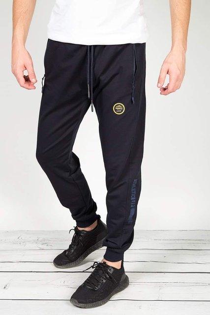 Spodnie męskie, dresowe, granatowe.