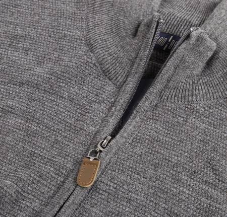 Sweter męski klasyczny Laid-Back 1237 Anthracite