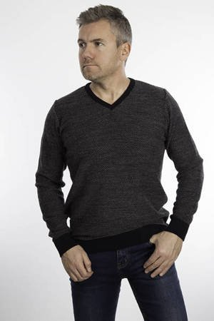 Sweter męski klasyczny Laid-Back 3185 Granatowy