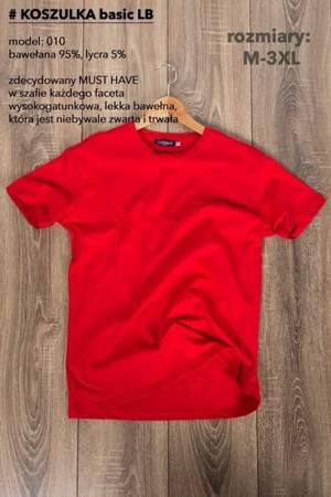 T-Shirt męski, gładki-czerwony